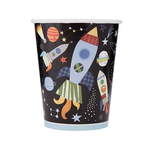 Espacio Exterior Vasos De Papel 270 ml- Paquete De 8