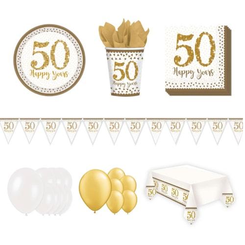 50.º aniversario de bodas de oro Paquete de fiesta de lujo para 16 personas
