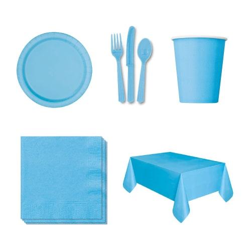 """12 x placas de plástico azul redondo 26cm 10/"""" Party Supplies Vajilla Desechable Nuevo"""