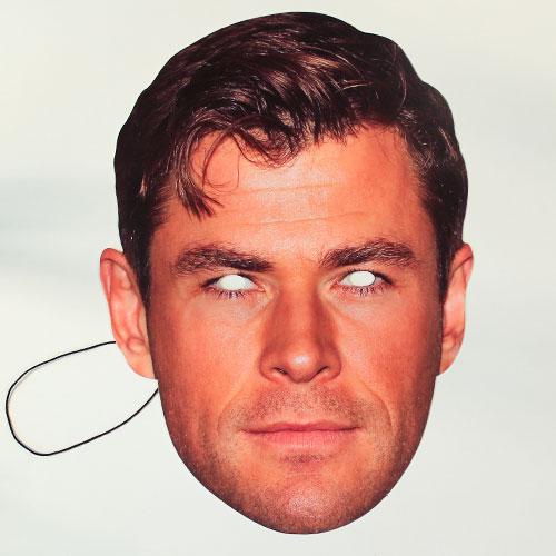 Chris Hemsworth Cartulina Cara Mascara