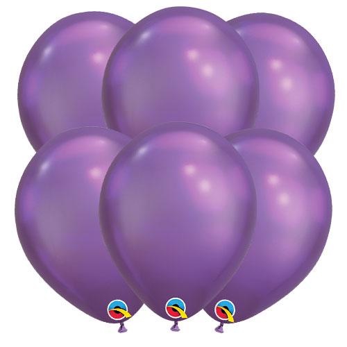 Púrpura Violeta Lunares Grande Globos Qualatex Látex de 11 Pulgadas x 6