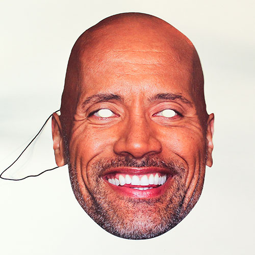 Dwayne Johnson Cartulina Cara Mascara