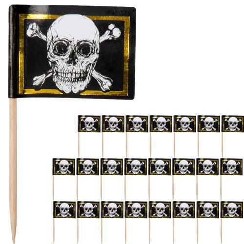 Piratas Oro Florete De Comida Cóctele Selecciones - Paquete De 24