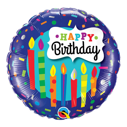 Feliz Cumpleaños Pastel /& Velas Qualatex 35 pulgadas Supershape Globo de la hoja