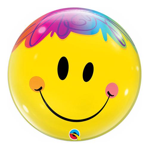 Brillante Sonrisa Cara Burbuja Helio Qualatex Globo  56Cm / 22 In