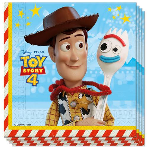 Disney Pixar Historia Del Juguete 4 Servilletas De Almuerzo 33 Cm 2Ply - Paquete De 20