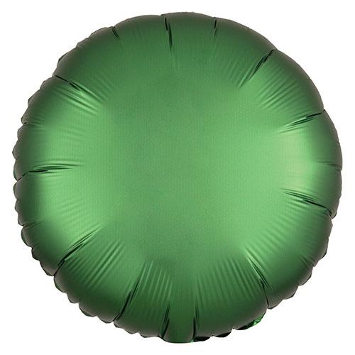 Verde Esmeralda Satén De Lujo Forma Redonda Papel De Aluminio Globo De Helio 43Cm / 17 In