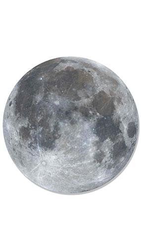 Luna Llena Arte De La Pared Cartón Recorte 66Cm