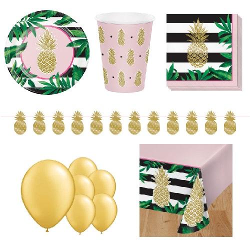 16 Negro y servilletas estrella de oro 33cm Glitz /& Glamour suministros de Fiesta de Cumpleaños niñas