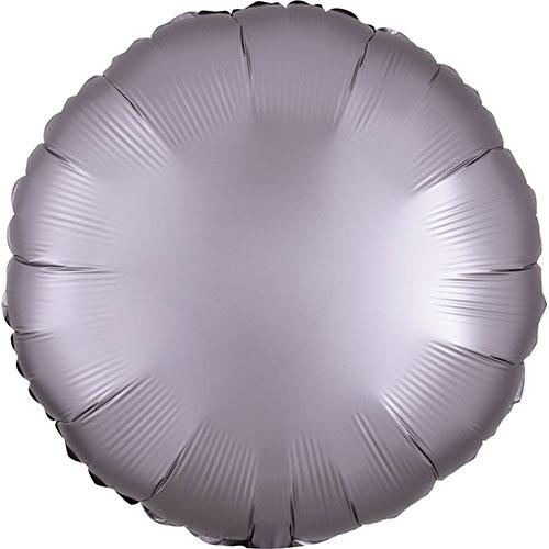 Greige Satén De Lujo Forma Redonda Papel De Aluminio Globo De Helio 43Cm / 17 In