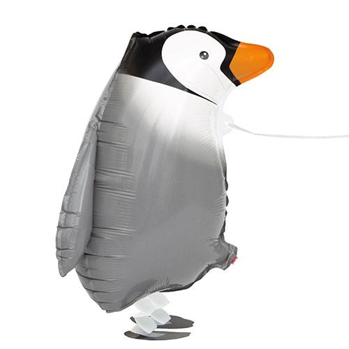 Pingüino Caminando Mascota Papel De Aluminio Globo De Helio 48Cm / 19 En