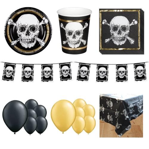 Paquete de fiesta piratas de lujo para 12 personas