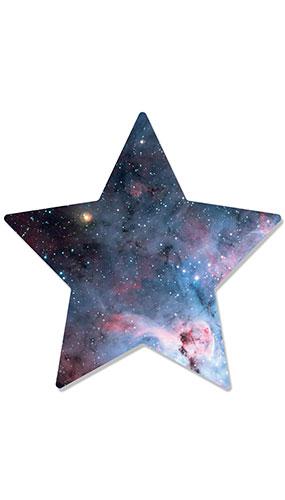 Estrellas Dentro De Estrella Pared Arte Recorte De Cartón 67Cm