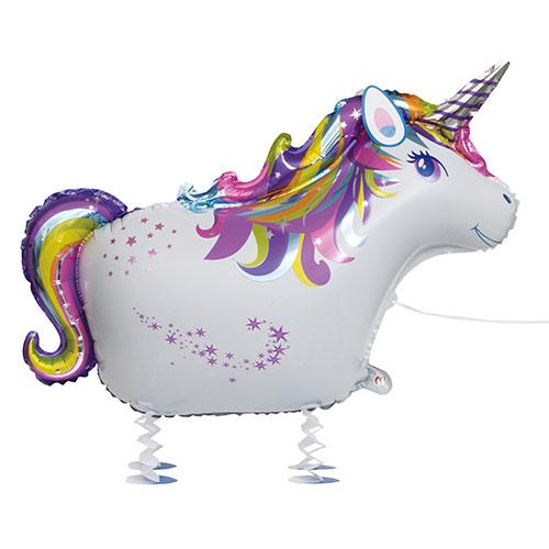 Unicornio Caminando Mascota Papel De Aluminio Globo De Helio 86Cm / 34 En