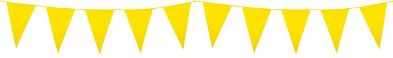 Banderín De Plástico Amarillo 10M