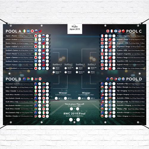 A3 Japón 2019 Rugby Accesorio Gráfico Mural