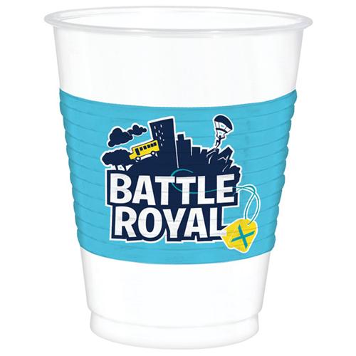 Batalla Real Copas De Plástico 473 Ml - Paquete De 8