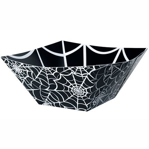Halloween Spider Web Cuadrado Papel Merienda Tazón 25Cm