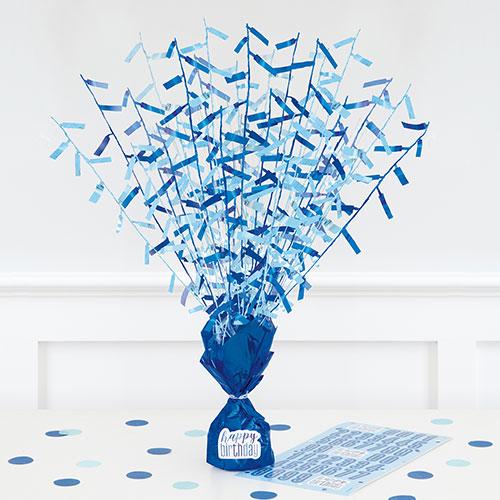 Centro De Pesas Personalizable Con Brillo Azul 43Cm