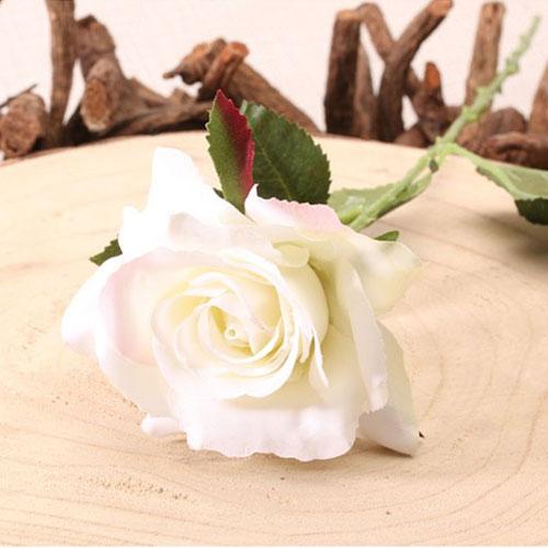 Crema Richmond Rose Flor De Seda Artificial 42Cm