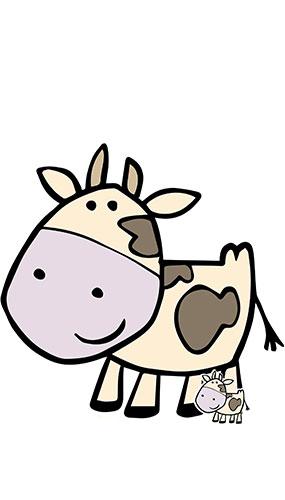 Vaca Linda Corral Animal Tamaño Natural Cartón Recortado 103Cm