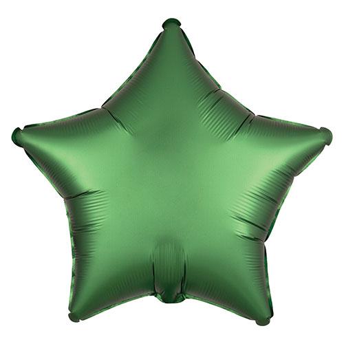 Verde Esmeralda Satén De Lujo Forma Estrella Papel De Aluminio Globo De Helio 48Cm / 19 In