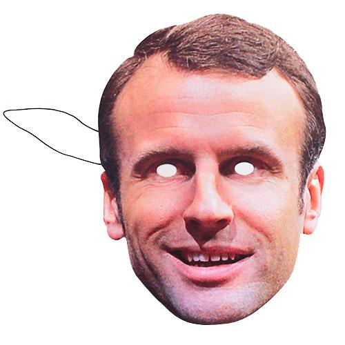 Emmanuel Macron Máscara De La Cara De Cartón