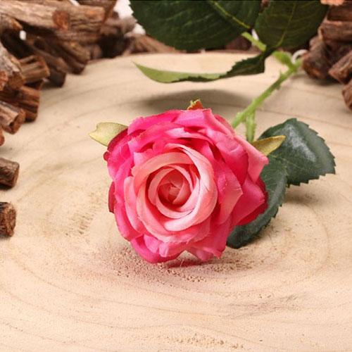 Fucsia Diamante Rosa Flor De Seda Artificial 75Cm