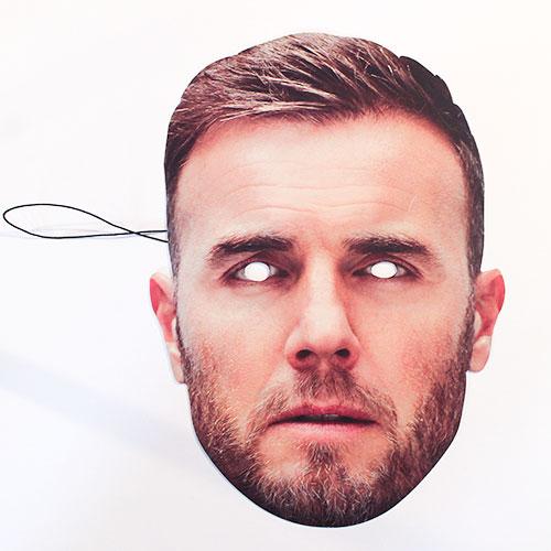 Gary Barlow Máscara De La Cara De Cartón