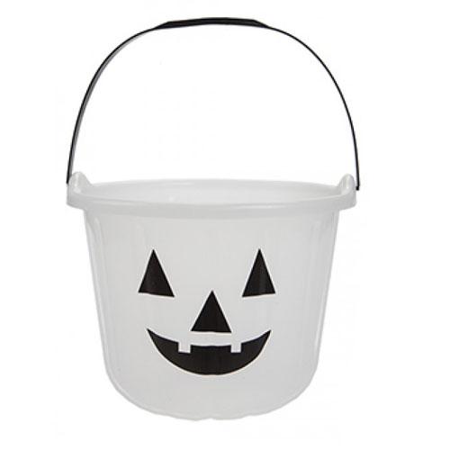 Resplandor En La Oscuridad De Halloween Truco Y Trato Cubo Jumbo De Dulces 17Cm