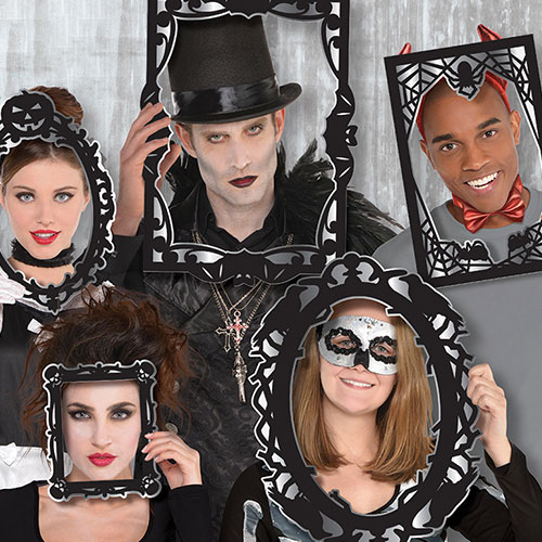 Gótico De Halloween Apoyos Fotomatón - Paquete De 12