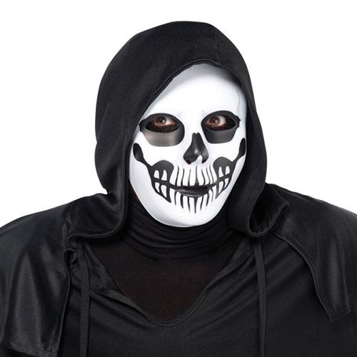 Adultos De Halloween Máscara De Calavera De Terror Negro Y Hueso