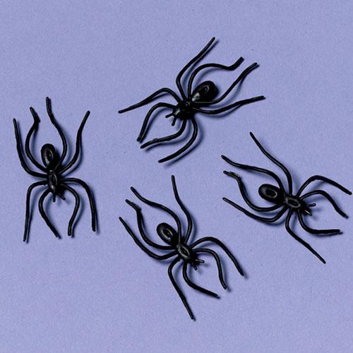 8 Arañas de Plástico criaturas Aterrador Utilería Decoración de Halloween Vestido de fantasía
