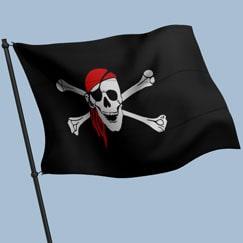Banderas piratas, empavesados y pancartas