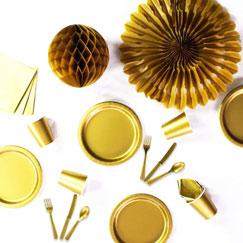 Suministros de fiesta de oro