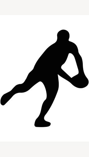 Jugador De Rugby Bola Lateral Lanzamiento Silueta Pvc Cartel De Tamaño Natural 182 Cm