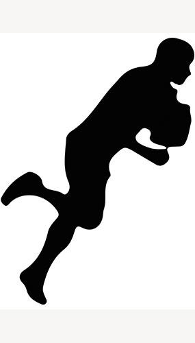 Jugador De Rugby Corriendo Silueta Pvc Póster De Tamaño Natural 182Cm