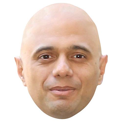 Sajid Javid Máscara De La Cara De Cartón