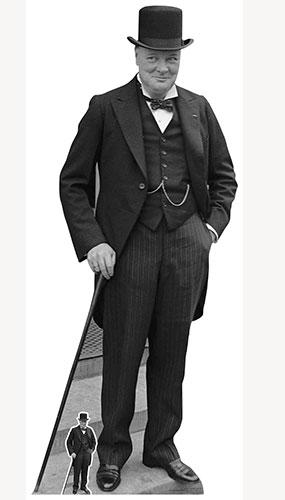 Winston Churchill Recorte De Cartón De Tamaño Natural 184Cm