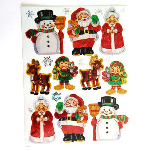Hojas De Pegatinas De Navidad  - Paquete De 2