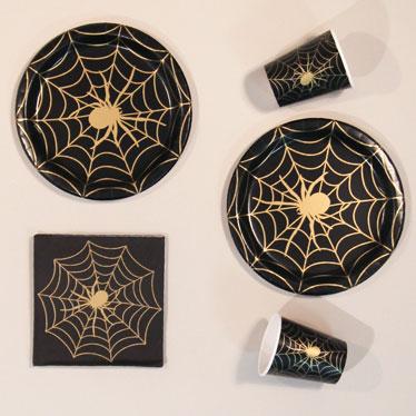 Oro De Halloween Tela De Araña Suministros Para Fiestas