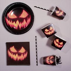 Fuentes Espeluznantes Del Partido De Calabaza De Halloween