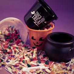 Cubos de dulces de Halloween