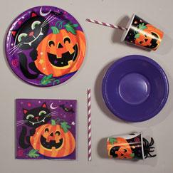 Feliz fiesta de Halloween suministros