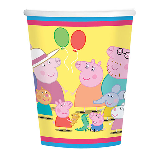 Peppa Pig Vasos De Papel 266Ml  - Paquete De 8