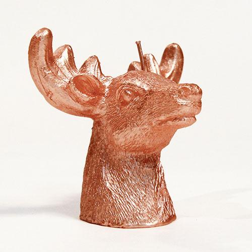 Oro Rosa 3D Ciervo Vela De Navidad Luces De Té - Paquete De 2
