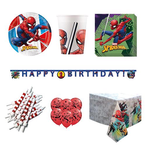 Paquete de fiesta de lujo Spider-Man para 8 personas