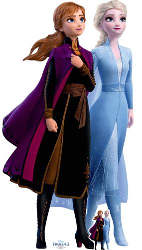 Anna Y Elsa Viaje Disney Frozen 2 Recorte De Cartón De Tamaño Natural 182Cm