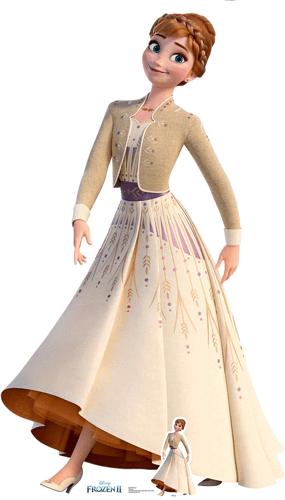 Vestido De Crema De Anna Disney Frozen 2 Recorte De Cartón De Tamaño Natural 164Cm