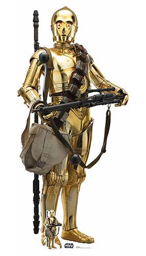 C-3Po Star Wars El Ascenso De Skywalker Recorte De Cartón De Tamaño Natural 176Cm
